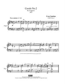 Choral in d major, CS070 No.2: Choral in d major by Santino Cara