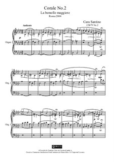 Choral No.2 in a flat major for organ, CS079 No.2: Choral No.2 in a flat major for organ by Santino Cara