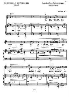 Drei Gedichte von H. Heine, Op.12: Nr.2 Lyrisches Intermezzo (Fichtenbaum) by Nikolai Medtner