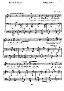 Drei Gedichte von H. Heine, Op.12: No.3 Bergstimme (Mountain Voice) by Nikolai Medtner