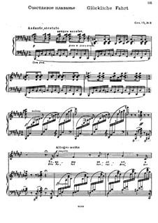 Twelve Songs after Goethe, Op.15: Nr.8 Glückliche Fahrt by Nikolai Medtner