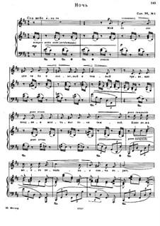 Six Poems after Pushkin, Op.36: No.5 Night by Nikolai Medtner