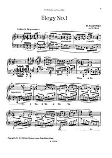 Two Elegies, Op.59: Two Elegies by Nikolai Medtner