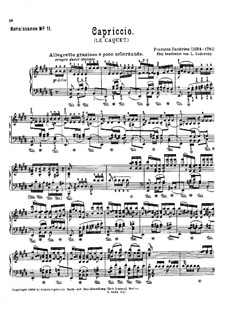 Capriccio. Arrangement for Piano: Capriccio. Arrangement for Piano by Jean-François Dandrieu