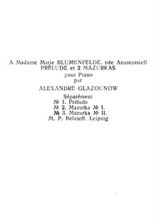 Three Pieces, Op.25: Three Pieces by Alexander Glazunov