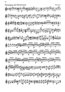 Three Pieces for Guitar: Three Pieces for Guitar by Unknown (works before 1850), Giovanni Paolo Foscarini