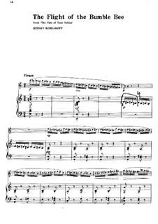 The Tale of Tsar Saltan. Opera: Flight of the Bumblebee, for flute and piano by Nikolai Rimsky-Korsakov