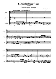 Pastoral in 3 voices for clarinet in c minor, CS134: Pastoral in 3 voices for clarinet in c minor by Santino Cara
