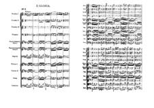 Gloria: Full score by Johann Sebastian Bach