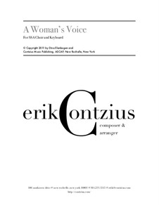A Woman's Voice: A Woman's Voice by Erik Contzius