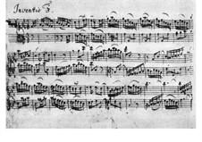 No.3 in D Major, BWV 774: For harpsichord by Johann Sebastian Bach