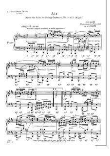 Aria: Version for piano by Siloti by Johann Sebastian Bach