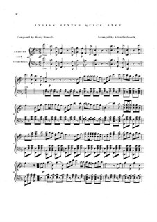 The Indian Hunter: For piano by Henry Russell