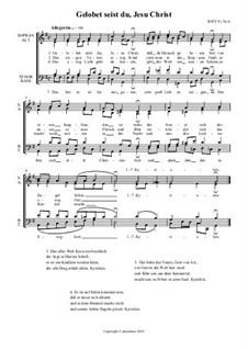 Gelobet seist du, Jesu Christ (Praise Be to You, Jesus Christ), BWV 91: Choral 'Das hat er alles uns getan' by Johann Sebastian Bach