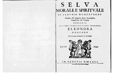 Selva morale e spirituale, SV 252–288: Alto I part (Voice) by Claudio Monteverdi
