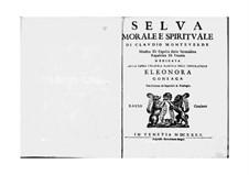Selva morale e spirituale, SV 252–288: Basso continuo part by Claudio Monteverdi