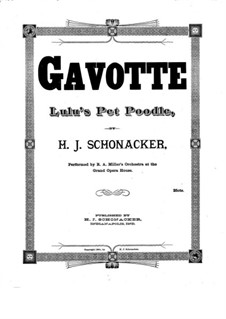 Gavotte for Piano: Gavotte for Piano by Hubert J. Schonacker