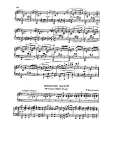 Wedding March: For piano by Felix Mendelssohn-Bartholdy