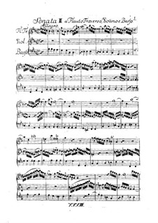 Trio Sonata for Flute, Violin and Basso Continuo in B Flat Major, H 578, Wq 161:2: Full score by Carl Philipp Emanuel Bach