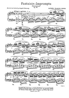 Fantasia-Impromptu in C Sharp Minor, Op.66: For piano (with fingering) by Frédéric Chopin