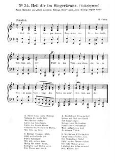 Heil dir im Siegerkranz: Klavierauszug mit Singstimmen by Henry Carey