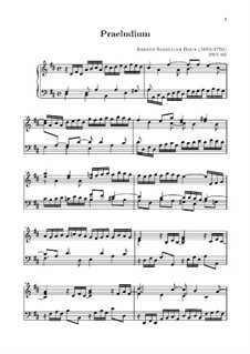 Little Prelude in D Major, BWV 925: For keyboard by Johann Sebastian Bach