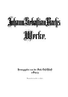 Easter Oratorio, BWV 249: Full score by Johann Sebastian Bach