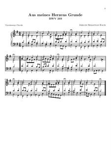 Aus meines Herzens Grunde, BWV 269: Aus meines Herzens Grunde by Johann Sebastian Bach