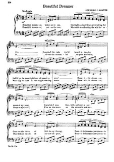 Beautiful Dreamer: In D Major by Stephen Collins Foster