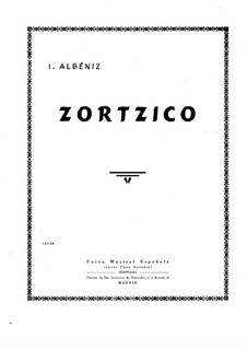 Zortzico: For piano by Isaac Albéniz