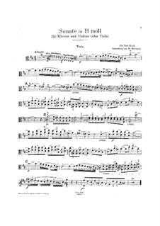 Six Sonatas for Violin and Keyboard, BWV 1014-1019: Solo part by Johann Sebastian Bach