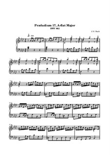 Prelude and Fugue No.17 in A Flat Major, BWV 862: For keyboard by Johann Sebastian Bach