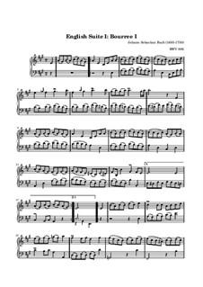 Suite No.1 in A Major, BWV 806: Bourrée I by Johann Sebastian Bach
