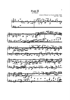 Prelude and Fugue No.2 in C Minor, BWV 871: For keyboard by Johann Sebastian Bach