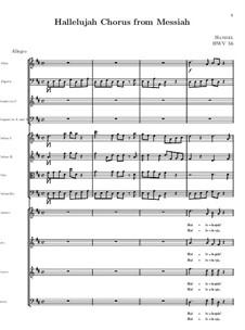 No.44 Hallelujah: Full score by Georg Friedrich Händel