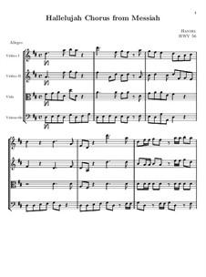 No.44 Hallelujah: Strings part by Georg Friedrich Händel