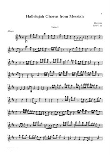 No.44 Hallelujah: Violin I part by Georg Friedrich Händel