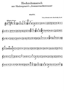 Wedding March: Percussion parts by Felix Mendelssohn-Bartholdy