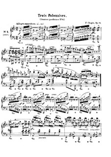 Polonaises, Op. posth.71: Complete set by Frédéric Chopin