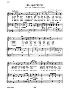 In der Ferne: Piano-vocal score by Friedrich Silcher