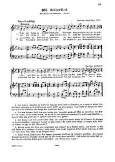 Reiterlied: In B-Dur by Christian Jacob Zahn