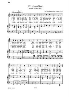 Abendlied: Abendlied by Johann Abraham Schulz