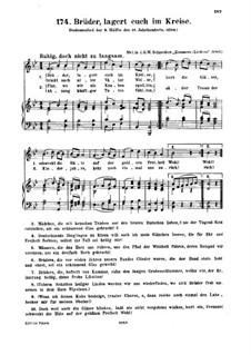 Brüder, lagert euch im Kreise: Brüder, lagert euch im Kreise by Unknown (works before 1850)