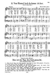 Vom Himmel hoch da komm ich her: Vom Himmel hoch da komm ich her by Martin Luther