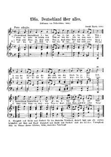 Deutschland über alles: Klavierauszug mit Singstimmen by Joseph Haydn