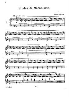 Thirty New Studies in Technics, Op.849: For piano by Carl Czerny