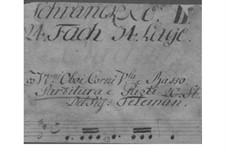 Suite in D Major, TWV 55:D19: Suite in D Major by Georg Philipp Telemann