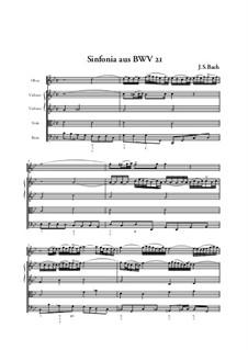 Ich hatte viel Bekümmernis, BWV 21: Sinfonia, Full score by Johann Sebastian Bach