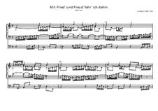 Mit Fried' und Freud' ich fahr' dahin, BWV 616: Mit Fried' und Freud' ich fahr' dahin by Johann Sebastian Bach
