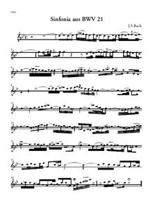 Ich hatte viel Bekümmernis, BWV 21: Sinfonia – Oboe Part by Johann Sebastian Bach